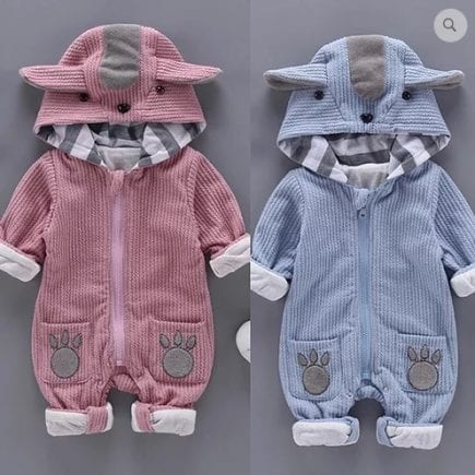Q1 Cute and Soft Dog applique romper 1